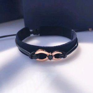 🎅SWAROVSKI INFINITY couple bracelet BLACK